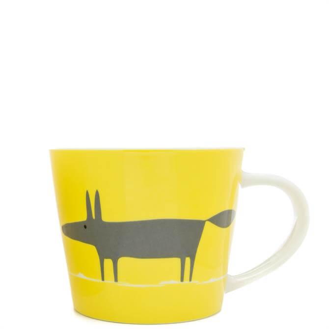 Scion Large Mr Fox Yellow/Charcoal Mug