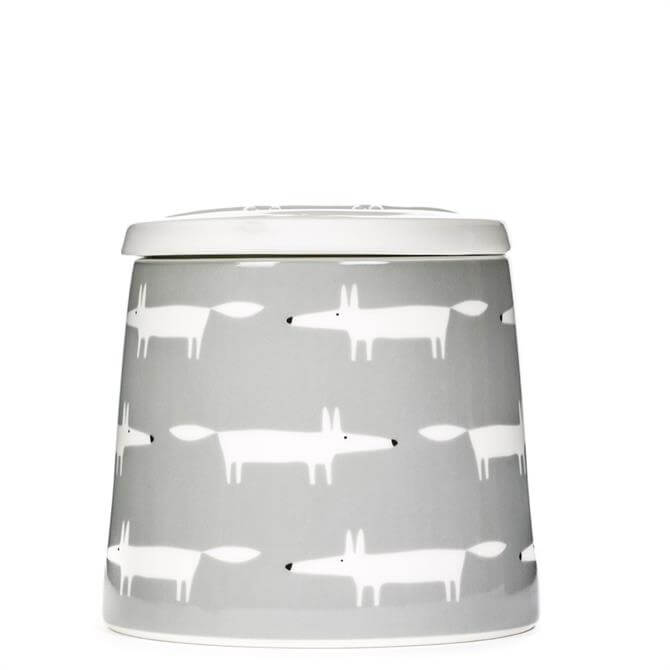 Scion Large Mr Fox Multi Grey Storage Jar