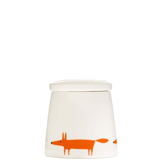 Scion Small Mr Fox Ceramic & Orange Storage Jar