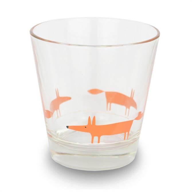 Scion Orange Mr Fox Italian Glass Tumbler
