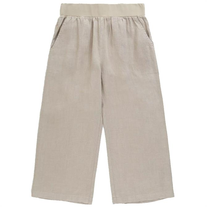 Seasalt Lunar Light Linen Cropped Trousers