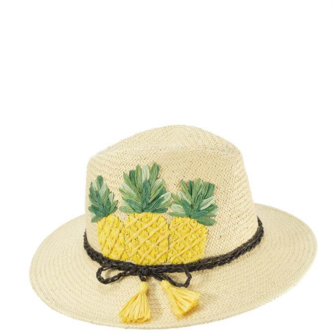 Seeberger Pineapple Embroidery Fedora Hat