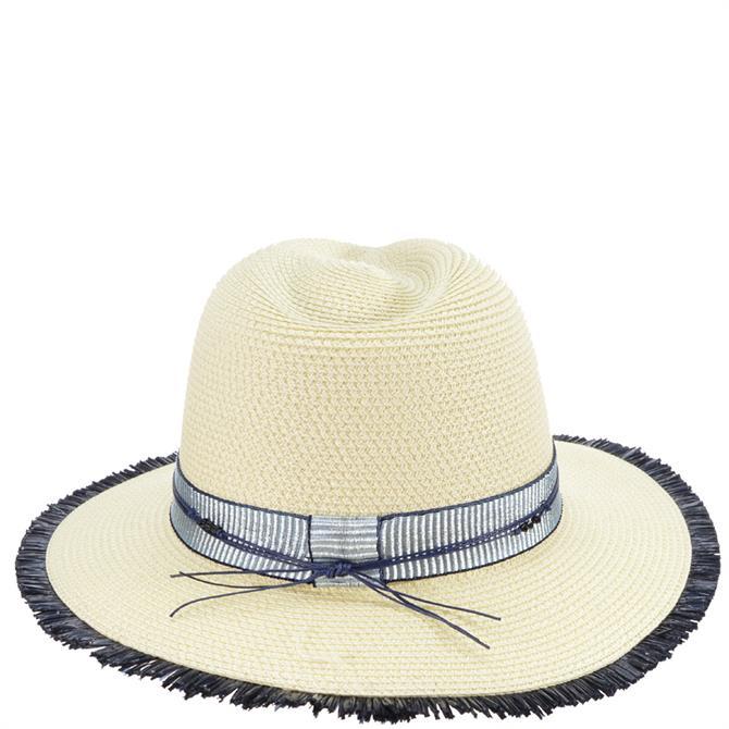 Seeberger Shiny Ribbon & Coloured Fringes Fedora Hat