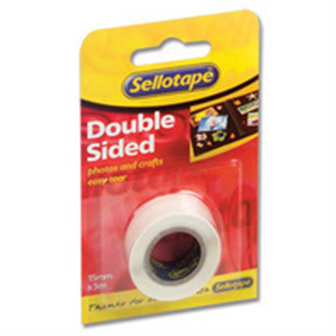 Sellotape DoubleSided Tape 15mmx5M 5501