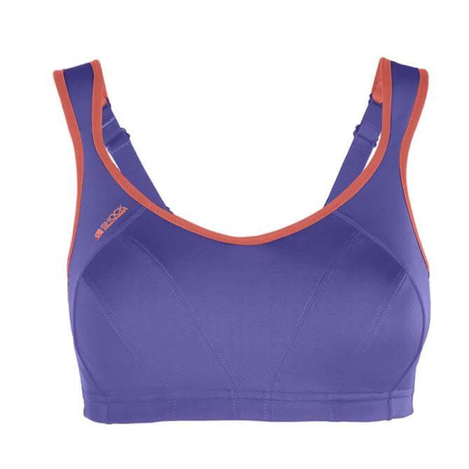 Shock Absorber Women's Active Multi Sports Bra- Waterfall Purple