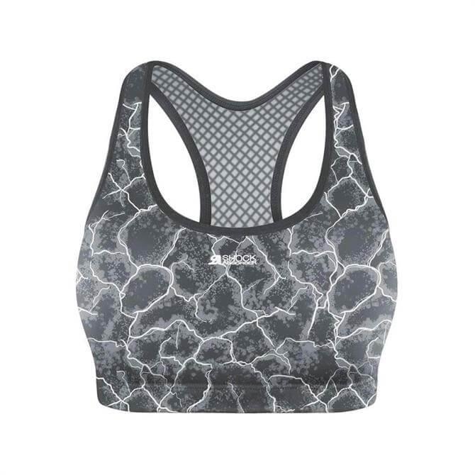 Shock Absorber Women's Active Crop Top- Grey