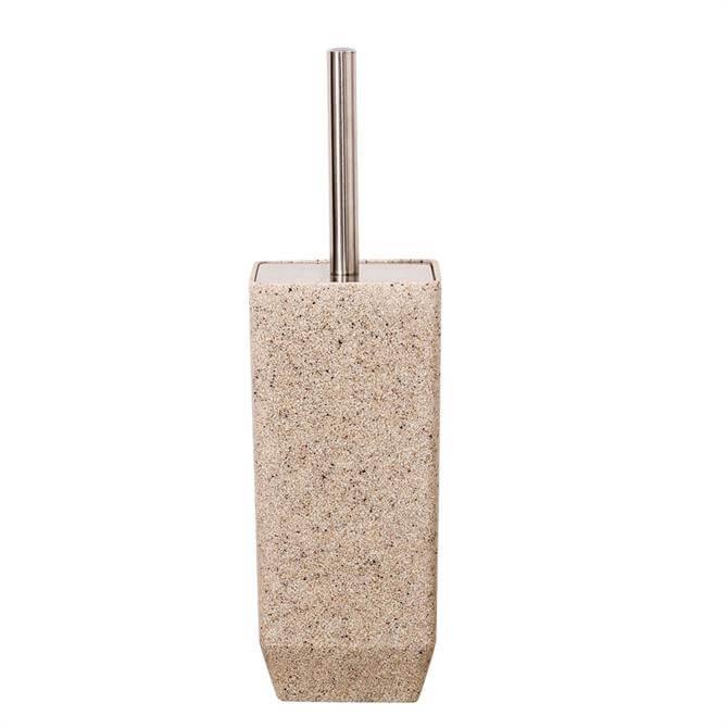 Showerdrape Metro Sand Toilet Brush & Holder