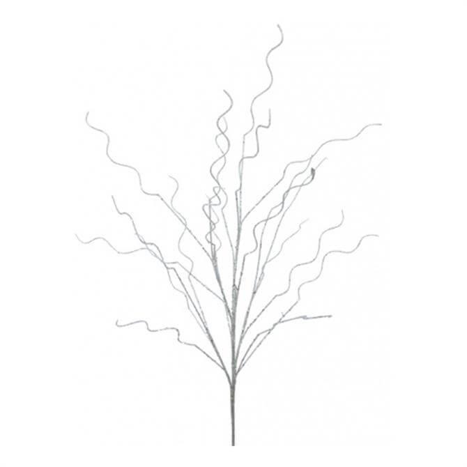 Floral Silk Glittered Twig