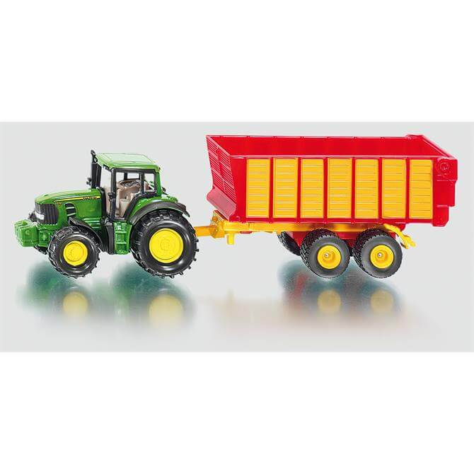 Siku John Deere with Silage Trailer