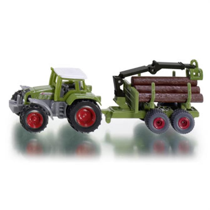 Alpha Siku Tractor with Forestry Trailer