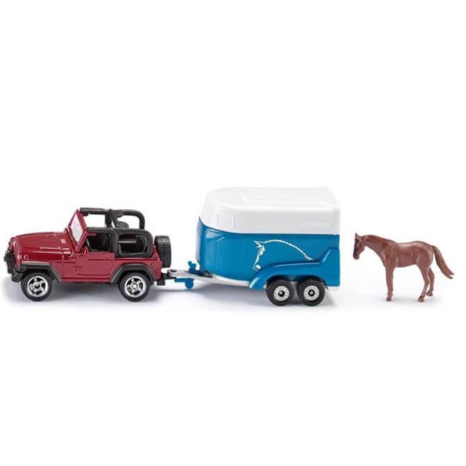 Alpha Siku Jeep with Horse Trailer