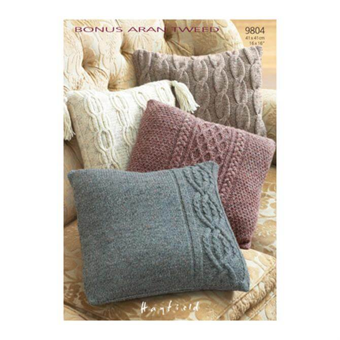 Sirdar Hayfield Bonus Aran Tweed Cushion Cover 9804