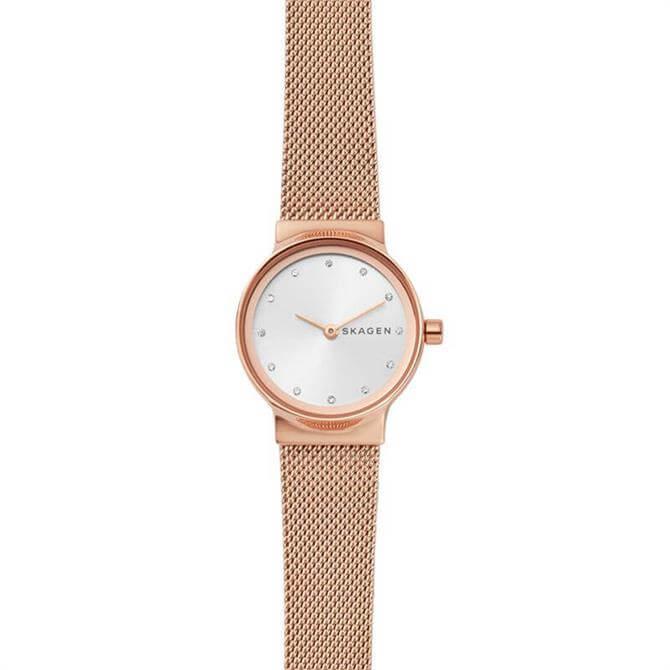 Skagen Freja Rose Gold Tone Steel Mesh Watch 26mm