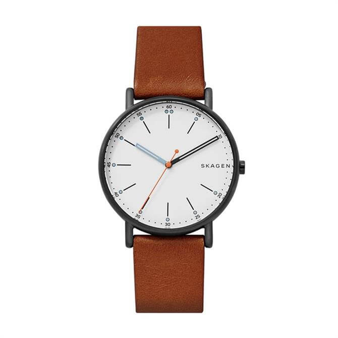 Skagen Signatur Brown Leather Mens Watch