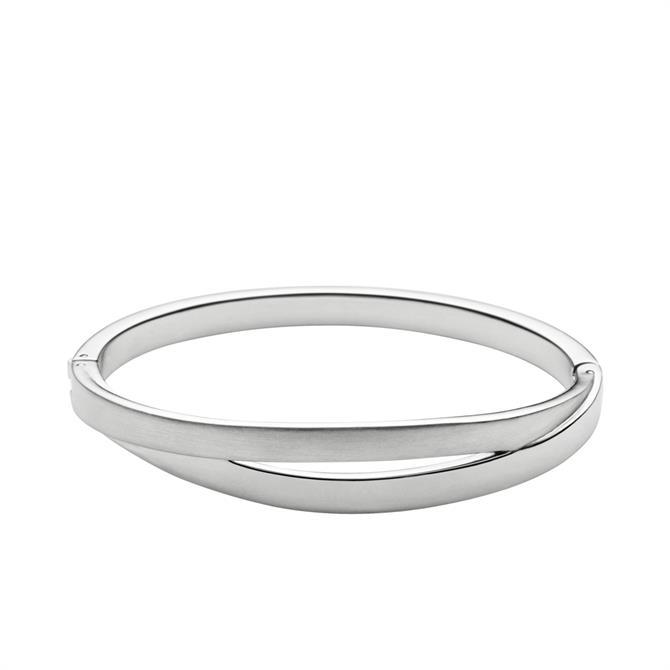 Skagen Elin Silver Tone Bangle Bracelet