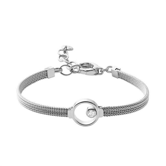 Skagen Elin Silver Tone Crystal Bracelet