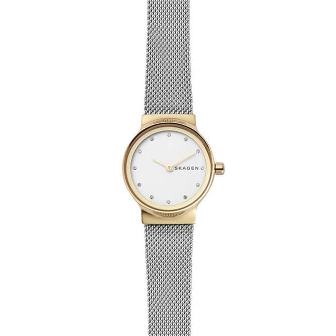 Skagen Freja Two-Tone Steel-Mesh Golden Watch