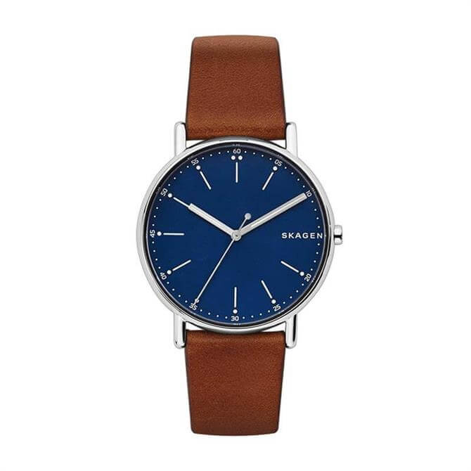 Skagen Signatur Brown Leather Watch