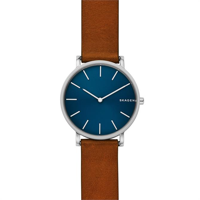 Skagen Hagen Slim Brown Leather Watch