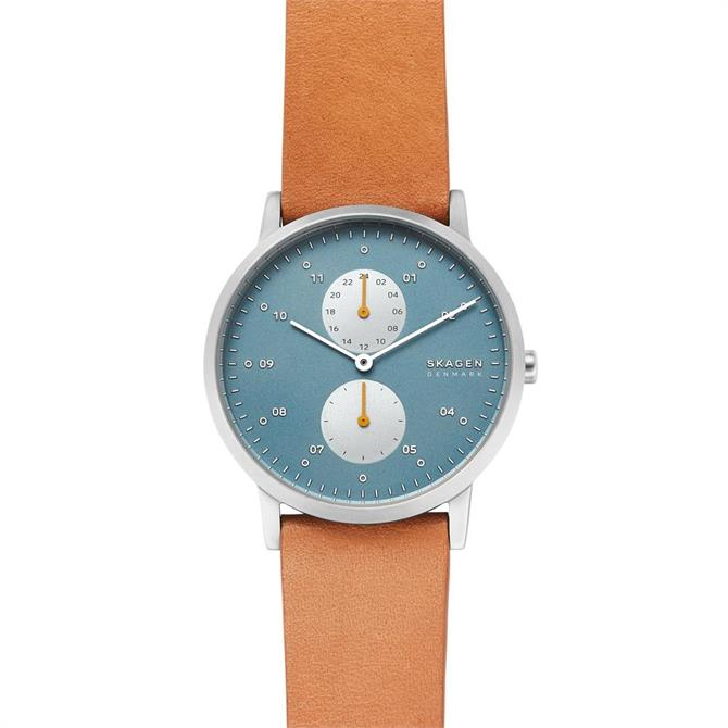 Skagen Kristoffer Yellow Leather Watch
