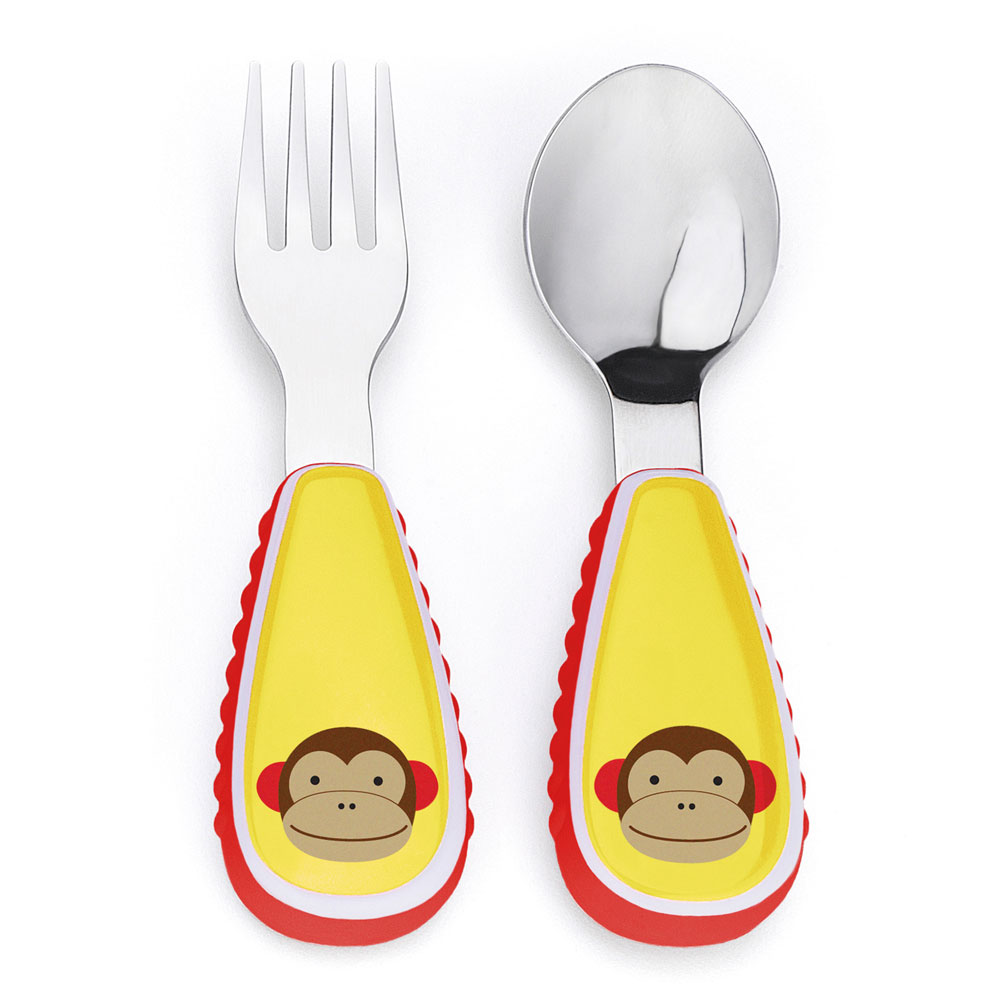 An image of Skip Hop Zootensils Fork & Spoon Monkey