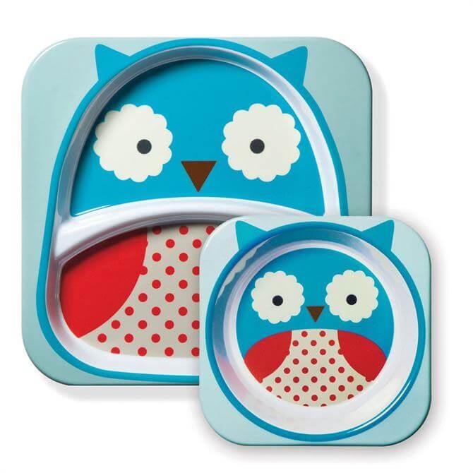 Skip Hop Zoo Owl Plate & Bowl Set