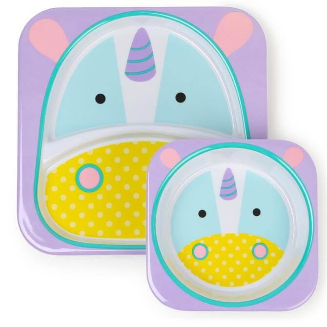 Skip Hop Zoo Unicorn Plate & Bowl Set