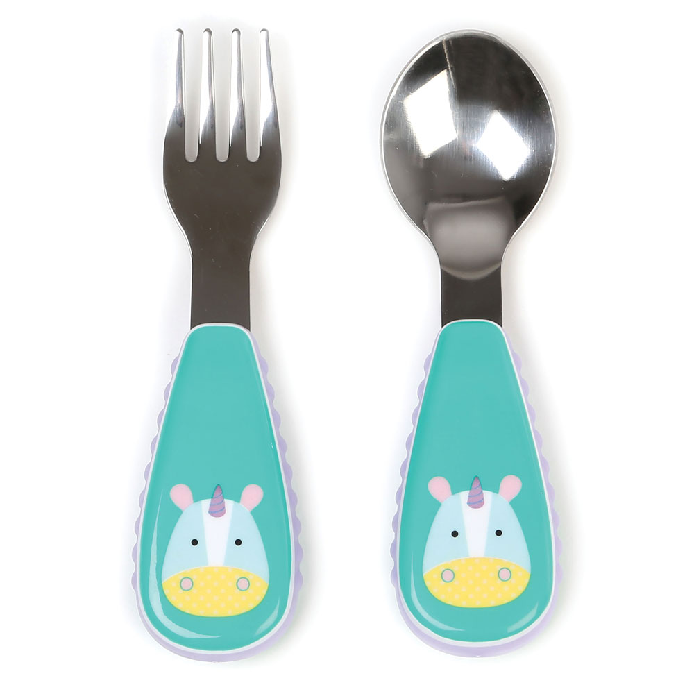 An image of Skip Hop Zootensils Fork & Spoon Unicorn