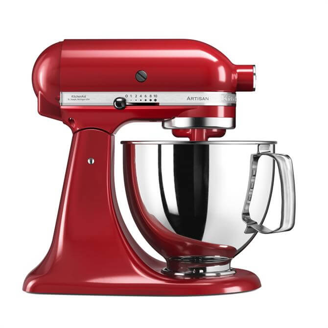 KitchenAid Artisan 175 Stand Mixer: Empire Red - Redeem Free Glass Bowl Worth £85 With Purchase*
