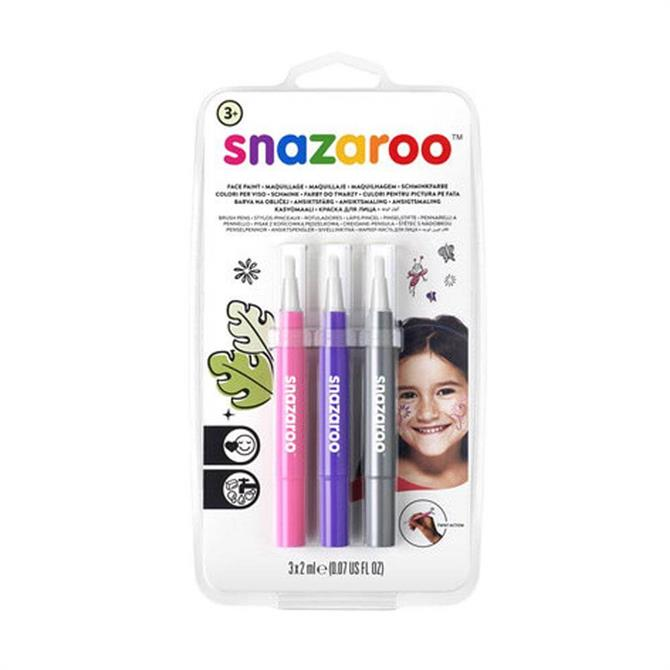 Snazaroo Brush Pen Fantasy Face Painting Pack