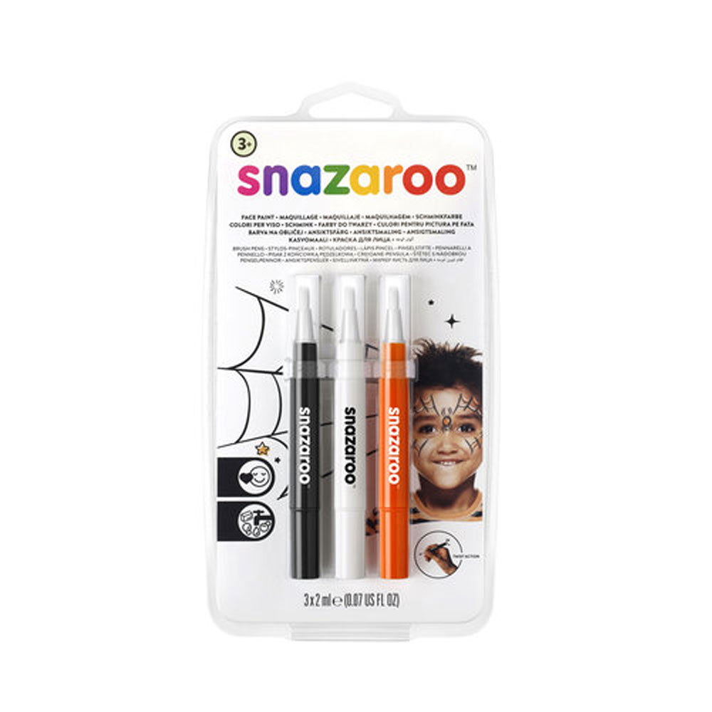 An image of Snazaroo Brush Pen Halloween Face Painting Pack