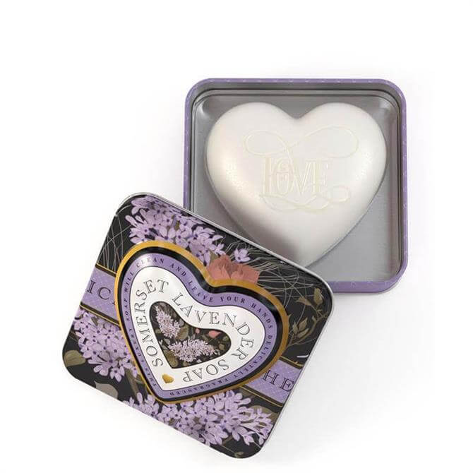 Somerset Toiletry Co Heart Shaped Soaps In Tins 150g