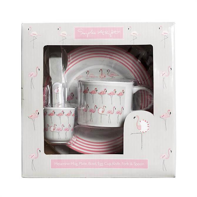 Sophie Allport Flamingos Melamine Set