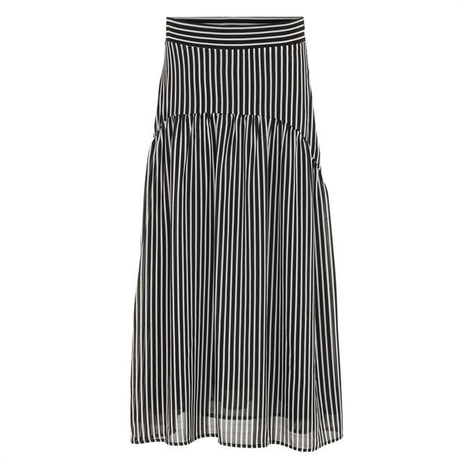 Soyaconcept Venia Striped Midi Skirt