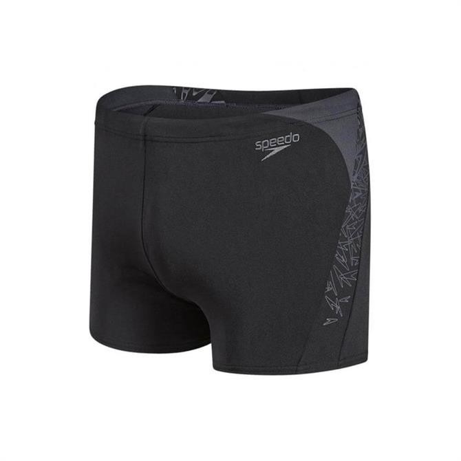 Speedo Men's Boom Splice Aquashort- Black/Grey