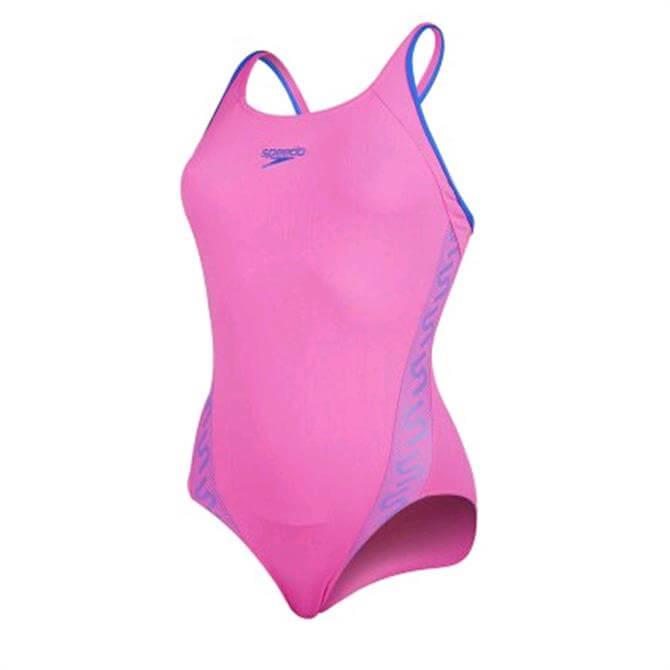 Speedo Womens Monogram Muscleback - Pink
