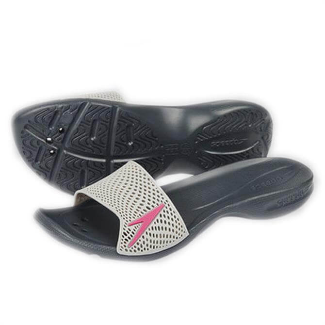 Speedo Atami II Max Slides- Grey/Pink