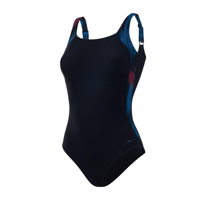 Speedo Women's Sculpture Lunalustre Swimsuit- Windsor Blue