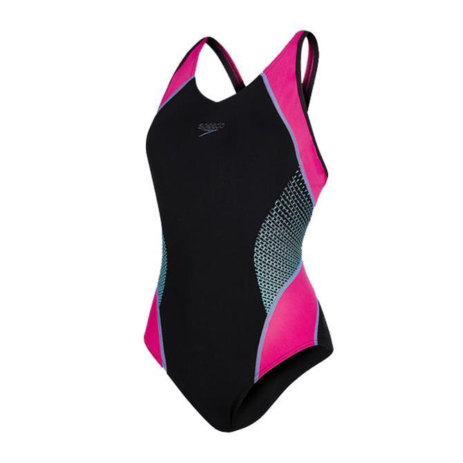 Speedo Women's Fit Splice Muscleback Swimsuit