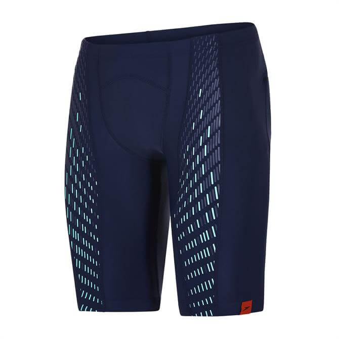 Speedo Men's Fit PowerMesh Pro Jammer- Navy Green