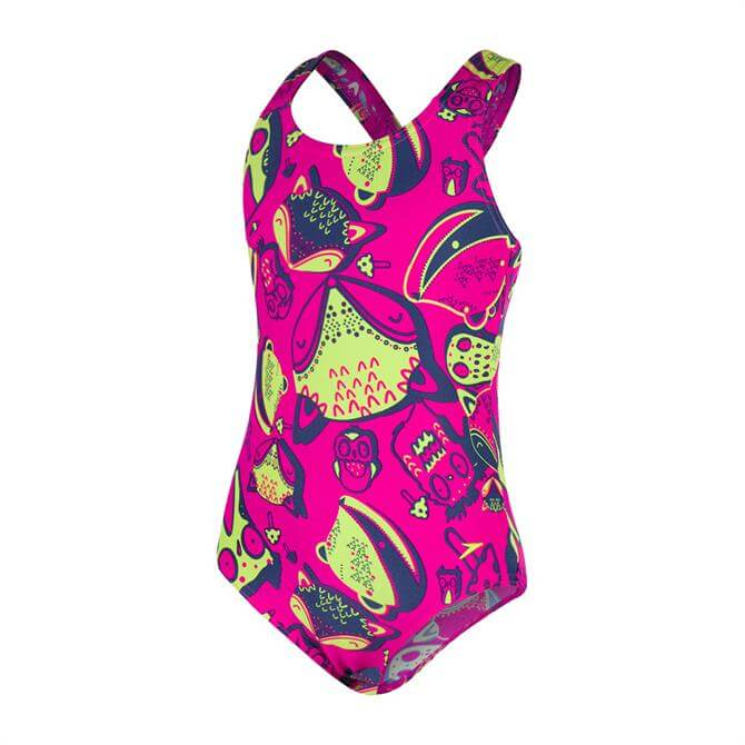 Speedo Junior Girls Moonset Essential All Over One Piece Swimsuit- Moonset