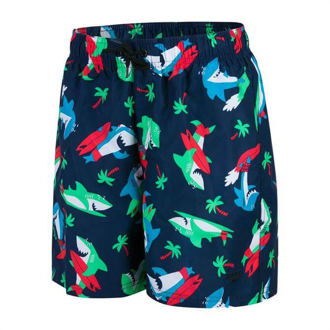 "Speedo Junior Boy's Shark Surfer Printed Leisure 15"" Swim"