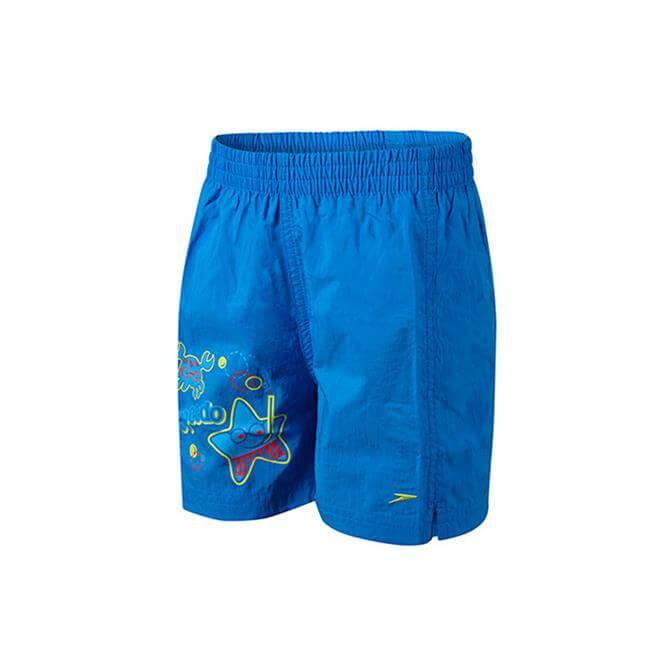 Speedo Junior Boy's Sea Squad Swim Short - Blue/Red