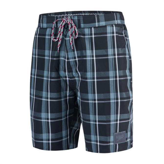 Speedo Men's Check Leisure Swin Short 18 inch - Oxid Grey
