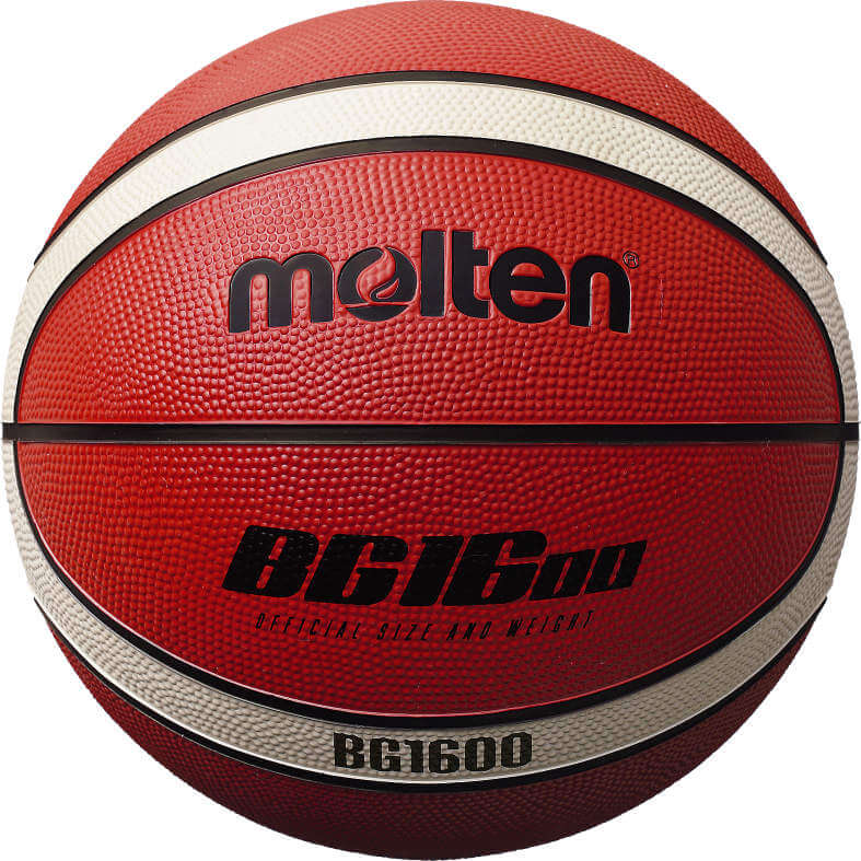 Molten 1600 Rubber Basketball - SIZE 7, AMBER