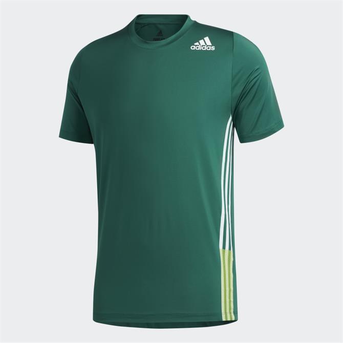 Adidas Free Lift 3 Stripe T-Shirt