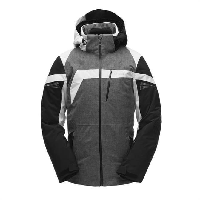 Spyder Men's Titan Performance Ski Jacket- Black/White