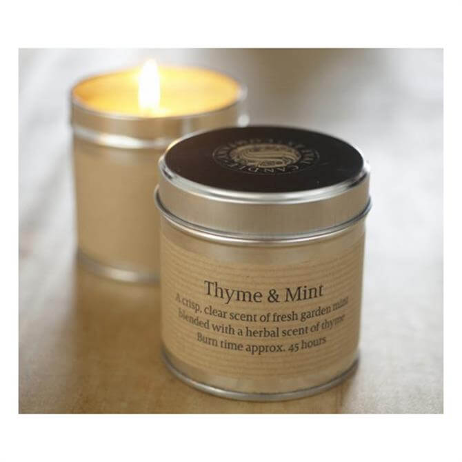 St Eval Thyme and Mint Candle Tin