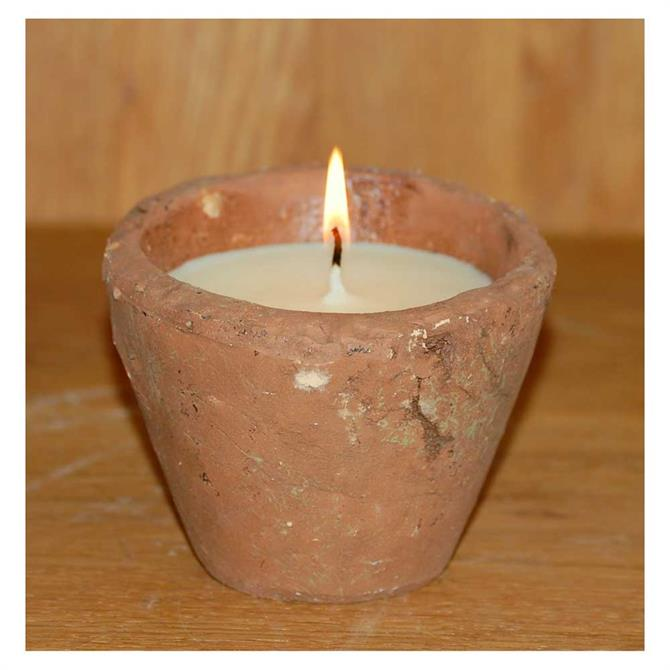 St Eval Victorian Herb Pot Candle Small