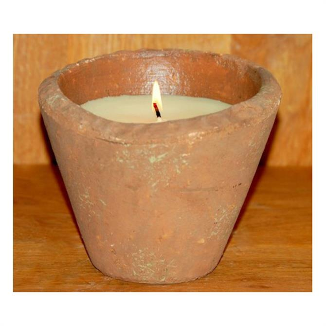St Eval Victorian Herb Pot Candle Large